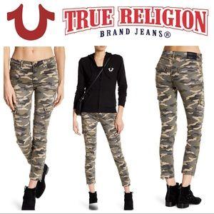 NWOT True Religion Halle Skinny Camo Cargo  sz 28